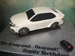 Sculpted Toyota Camry cake